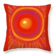 Desert Sunburst Throw Pillow by Daina White