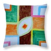 Destiny Plan Throw Pillow by Sonali Gangane
