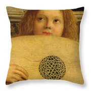 Detail Of The San Giobbe Altarpiece Throw Pillow by Giovanni Bellini