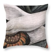 Detroit Industry   detail of west wall Throw Pillow by Diego Rivera