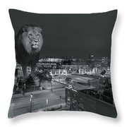 Detroit Lions Throw Pillow by Nicholas  Grunas