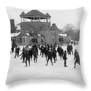 Detroit Michigan Skating At Belle Isle Throw Pillow by Anonymous