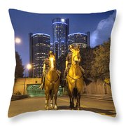 Detroit's Finest Detroit MI Throw Pillow by B And G Art