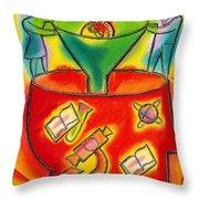 Development Throw Pillow by Leon Zernitsky