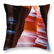 Devil's Passage Throw Pillow by Dave Bowman