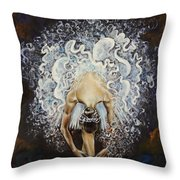 Devotion Throw Pillow by Karina Llergo