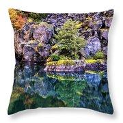 Diablo Lake Reflection Throw Pillow by Benjamin Yeager