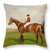 Diamond Jubilee Winner Of The 1900 Derby Throw Pillow by Emil Adam