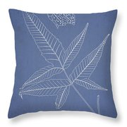 Dictyopteris barberi Throw Pillow by Aged Pixel
