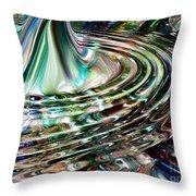 Digital liquid Throw Pillow by Cheryl Young