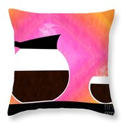 Diner Coffee Pot And Cup Sorbet Throw Pillow by Andee Design