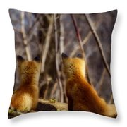 Distracted Throw Pillow by Thomas Young