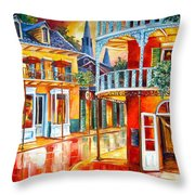 Divine New Orleans Throw Pillow by Diane Millsap