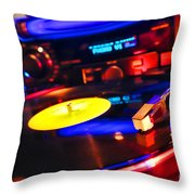 Dj 's Delight Throw Pillow by Olivier Le Queinec