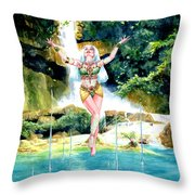 Djinn Throw Pillow by Ken Meyer jr
