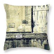 Do Not Block Door Throw Pillow by Valentino Visentini