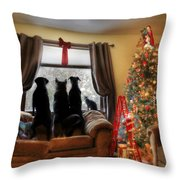 Do You Hear What I Hear Throw Pillow by Lori Deiter