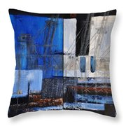 Dock 35 Throw Pillow by Sallie-Anne Swift
