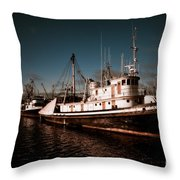 Docked For The Day Throw Pillow by Venetta Archer