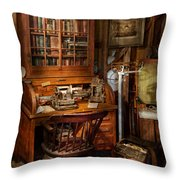 Doctor - My Tiny Little Office Throw Pillow by Mike Savad