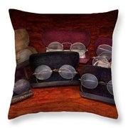 Doctor - Optometrist - Array of Opticals Throw Pillow by Mike Savad