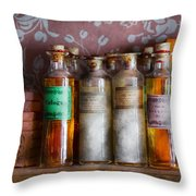 Doctor - Perfume - Soap And Cologne Throw Pillow by Mike Savad