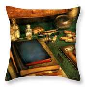 Doctor - The Busy Doctor Throw Pillow by Mike Savad