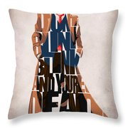 Doctor Who Inspired Tenth Doctor's Typographic Artwork Throw Pillow by Ayse Deniz