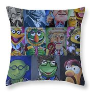 Doctor Who Muppet Mash-up Throw Pillow by Lisa Leeman