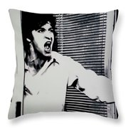 Dog Day Afternoon Throw Pillow by Luis Ludzska