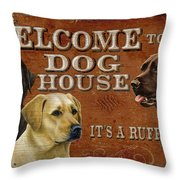 Dog House Throw Pillow by JQ Licensing