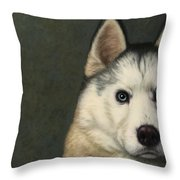 Dog-nature 9 Throw Pillow by James W Johnson