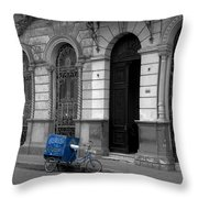 Doing The Rounds Throw Pillow by James Brunker