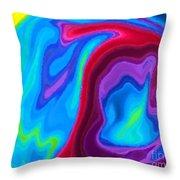 Dolphin Throw Pillow by Chris Butler