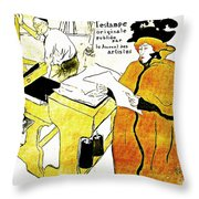 Domain-Le Stamp Throw Pillow by Michael Braham