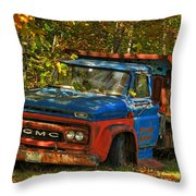 Done Hauling  Throw Pillow by Alana Ranney