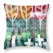 Done Too Soon Throw Pillow by Linda Woods