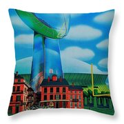Doomsday Domination Throw Pillow by Benjamin Yeager