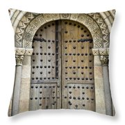 Door Throw Pillow by Frank Tschakert