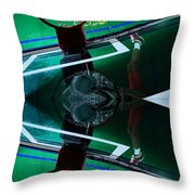 Double dunk Throw Pillow by M and L Creations