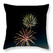 Double Fireworks Blast Throw Pillow by Robert Bales
