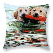 Doublemint Throw Pillow by Molly Poole