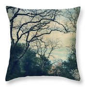 Down That Path Throw Pillow by Laurie Search