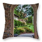 Down The Garden Path Throw Pillow by Lara Ellis