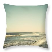 Down The Shore - Seaside Heights Jersey Shore Vintage Throw Pillow by Terry DeLuco