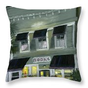 Downtown Books 11 Throw Pillow by Susan Richardson