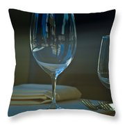 Downtown Dining Throw Pillow by Christi Kraft
