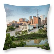 Downtown Houston from UH-D. September Throw Pillow by Silvio Ligutti