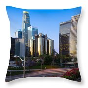 Downtown L.a. Throw Pillow by Inge Johnsson