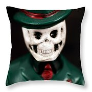 Dr. Death Throw Pillow by John Rizzuto
